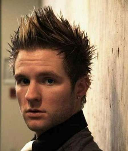 short spiky hawk haircuts for men