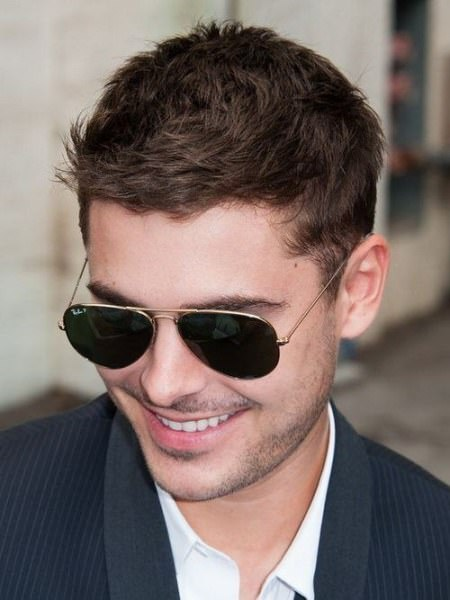 short tapered haircut Zac Efron Hairstyles