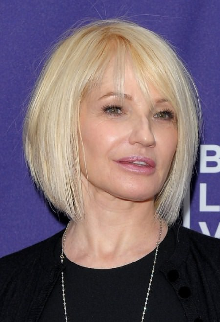 shoulder length straight bob haircuts for women over 60