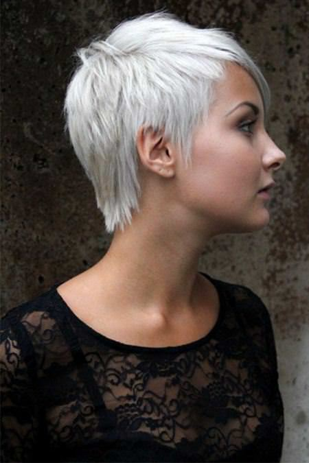 silver pixie platinum blonde and white hair