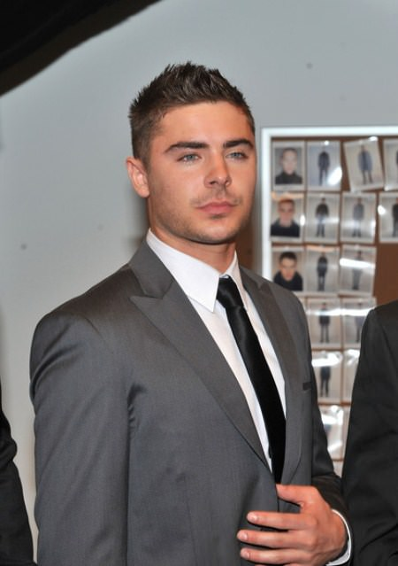 simple crewcut Zac Efron Hairstyles