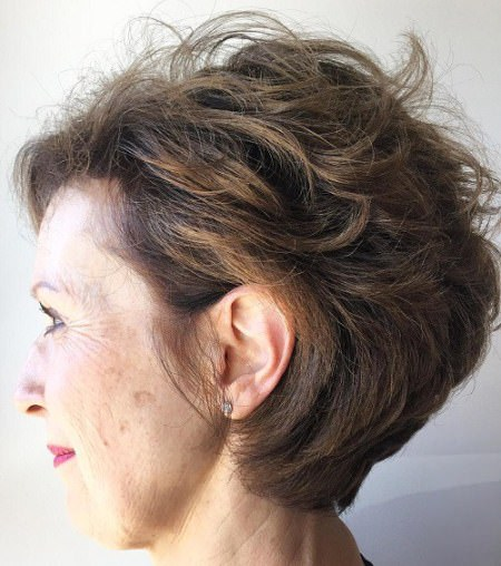 soft tousled waves hairstyles for older women