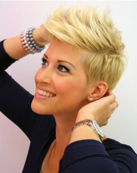 spiked blonde tapered haircuts short blonde hairstyles
