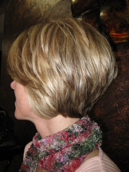 stacked bob haircuts for women over 60