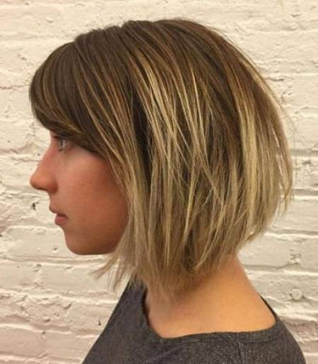 sweet bob with side swept bangs short fringe Hairstyles