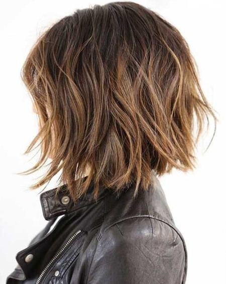 textured choppy bob hairstyles