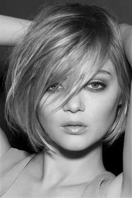 thick gray bob with side bangs hairstyles for gray hair