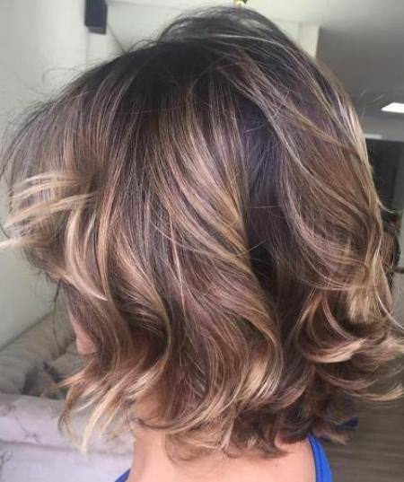 tousled and bob curled choppy bob hairstyles