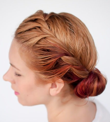twisted side roll bun hairstyles