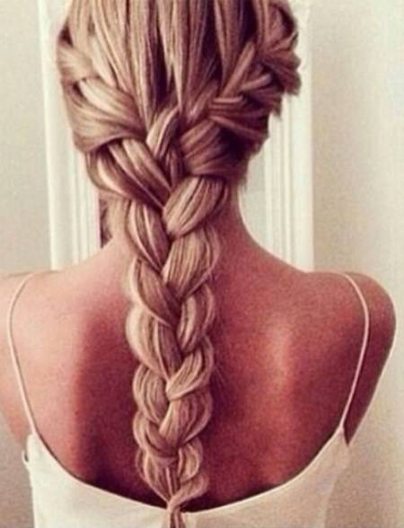 two into one french braid hairstyles