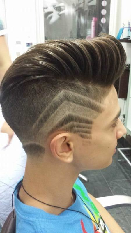 undercut with design hairstyles for men