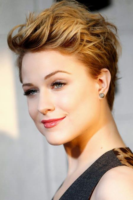 wavy pixie cuts with a quiff