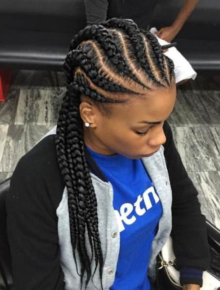 wavy straight black braid natural braided hairstyles