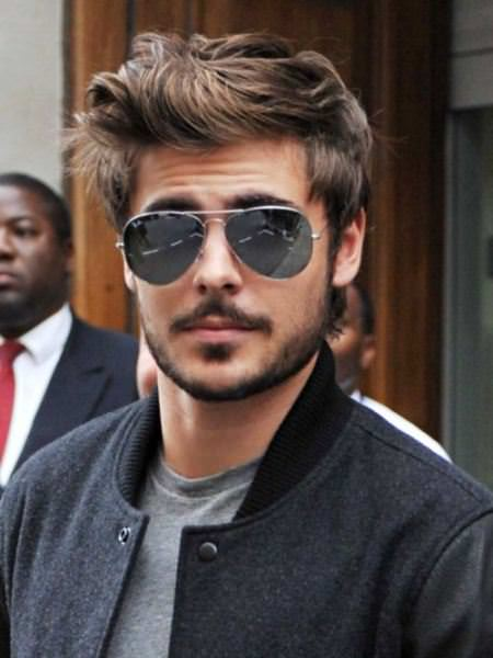 whimsical wavy hairstyle Zac Efron Hairstyles