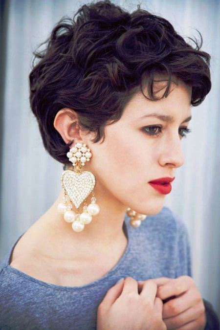 wild tousled waves wavy pixie cuts