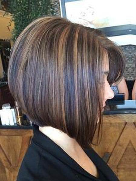 A line bob with highlights medium bob hairstyles