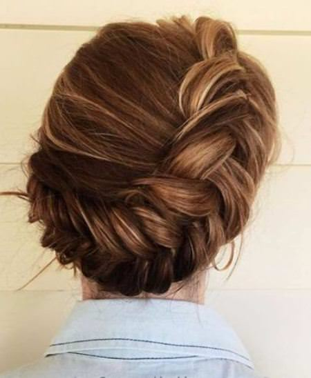 Adorable fishtail updo braided hairstyles