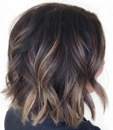 Balayage ombre on dark hair balayage short hair looks