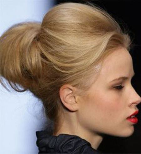 Chignon with poof updos for women