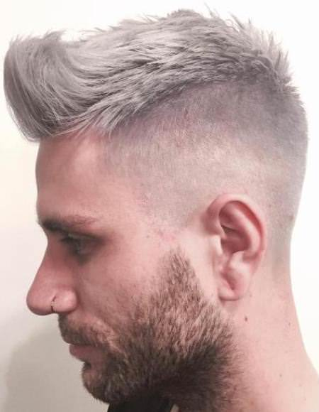 Choppy gray undercut hairstyles and haircuts for men