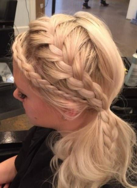 Creative Side Ponytail french braid ponytails
