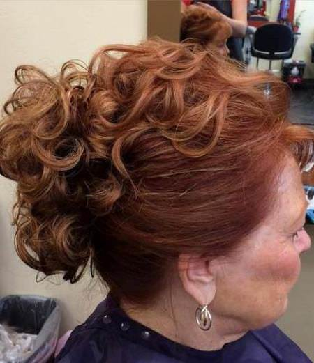 curly top updos for women over 40