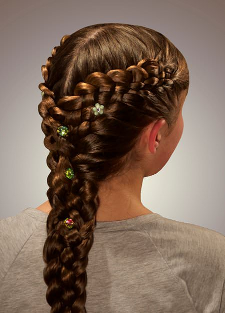 Fantastical French Braid french braid ponytails
