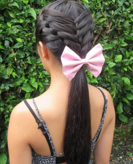Intricate and Adorable French Braid french braid ponytails