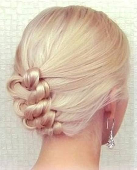 Knot braid updo homecoming updos