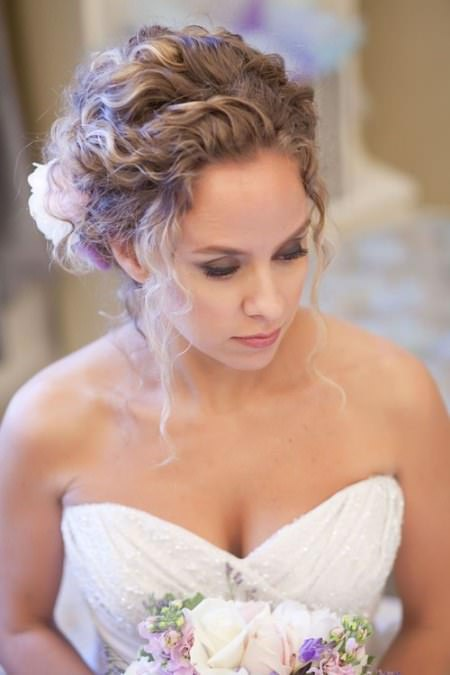 Loose curly upod for long hair wedding curly hairstyles
