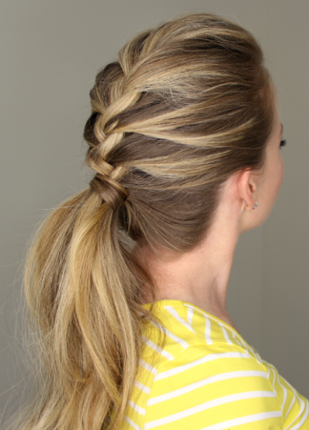 Loosely Braided style french braid ponytails