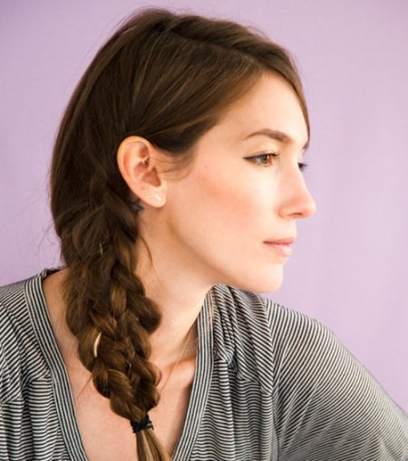 Mermaid tail side braid hairstyles