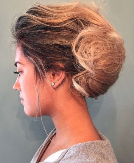 Messy ombre twist french twist updos