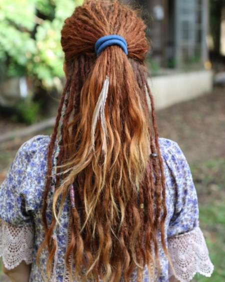 Pretty dreads with loose ends dread locks for women