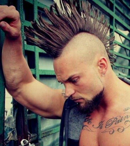 Real shaved mohawk hairstyles for men