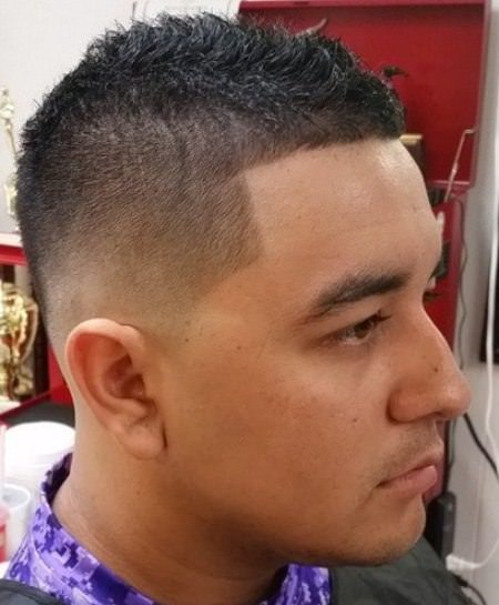 Short haircut with tapered fade mohawk hairstyles for men