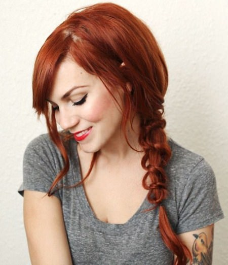 Simple knot side braid hairstyles