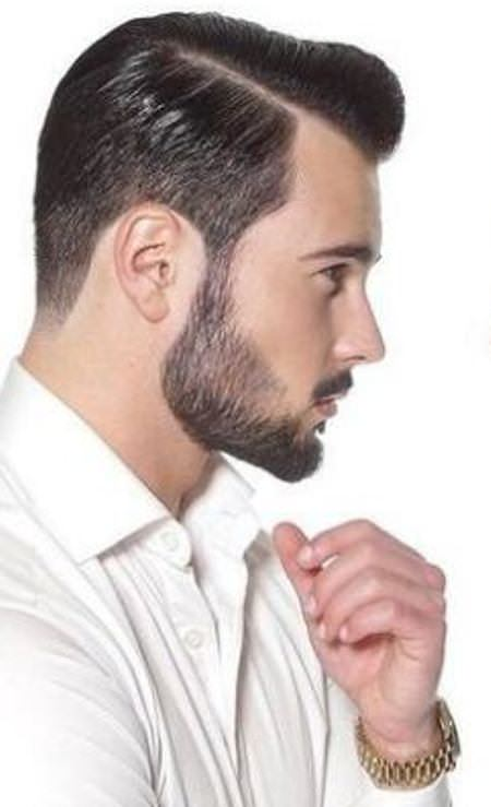 Slicked back hairstyles and haircuts for men