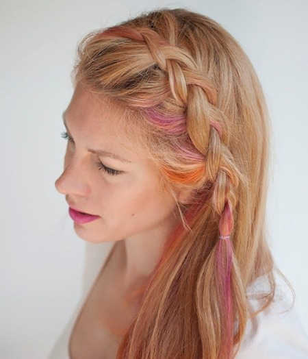 Small dutch side braid hairstyles