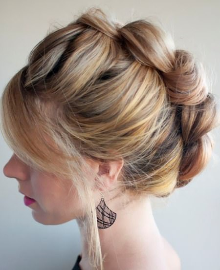 The braided hawk homecoming updos