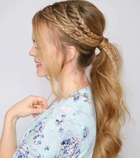 Triple Braid Style french braid ponytails
