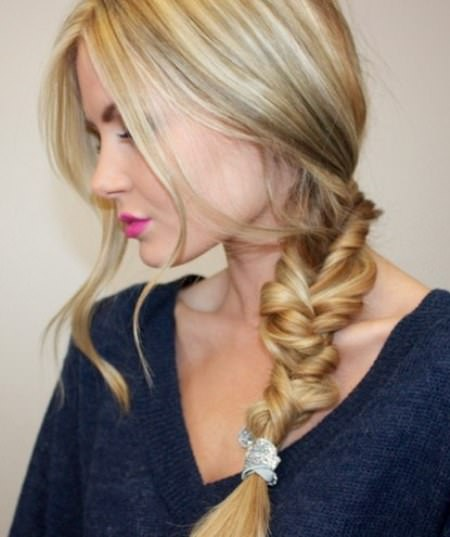 Twisted side braid hairstyles