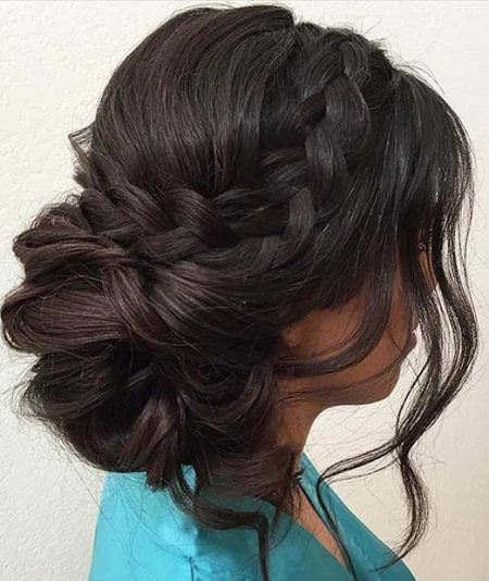accent braid prom updos for women