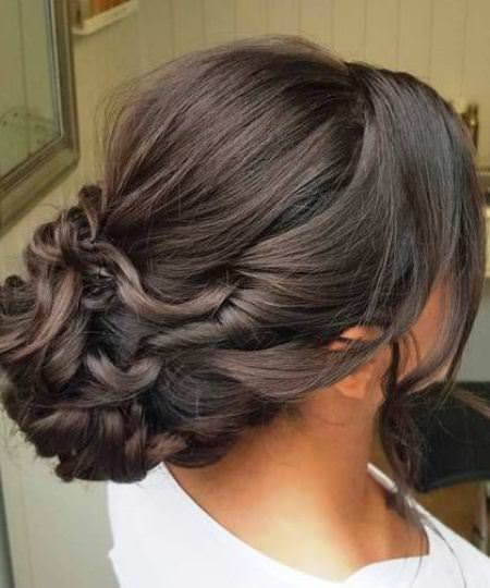 beautiful twisted bun updos for women over 40