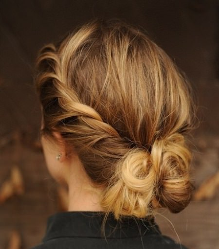 beautiful twisted updos for women