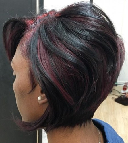 black weave with red highlights weave hairstyles for black women