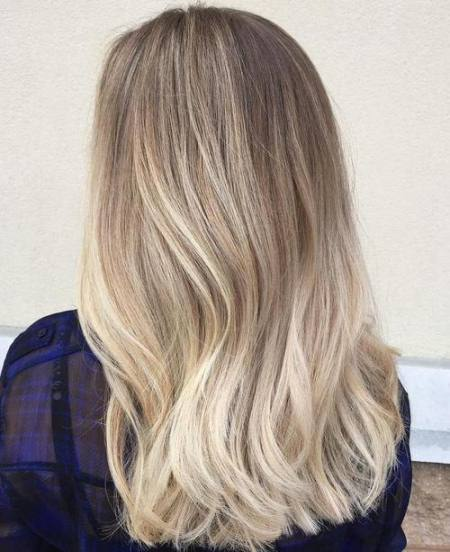 blonde balayage for thick hair