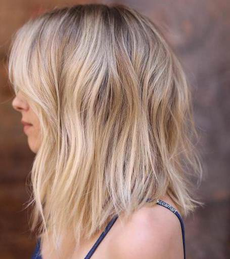 blonde bob with gentle low lights long bob hairstyles