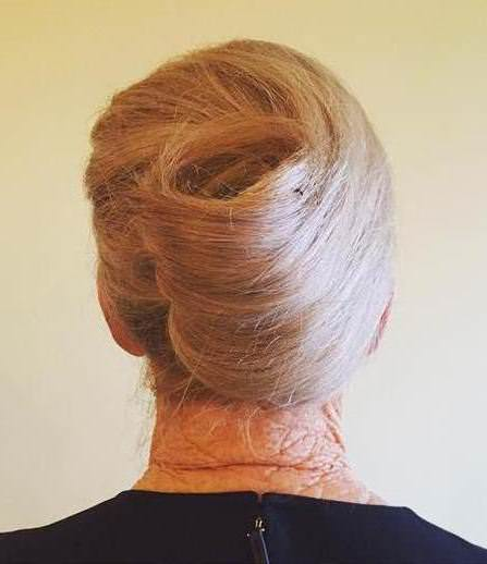 blonde french roll updo updos for women over 40