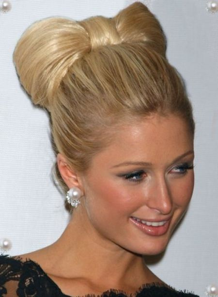 bow updos for long hair